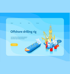 Isometric oil industry concept banner vector