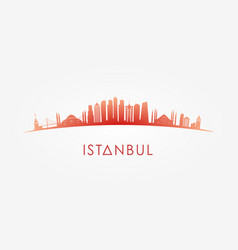 istanbul turcey skyline silhouette vector image