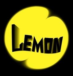 lemon logo black background vector image
