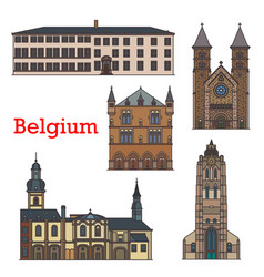 luxembourg travel landmarks echternach churches vector image