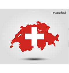 map of switzerland vector image
