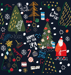 merry christmas and a happy new year 2020 card vector image