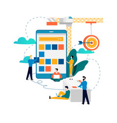 Mobile application development process vector