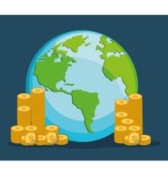 Money savings and coins design vector
