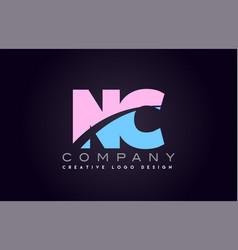 nc alphabet letter join joined letter logo design vector image