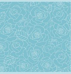 pastel summer roses garden seamless pattern vector image