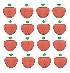pattern of ripe strawberries on a white background vector image