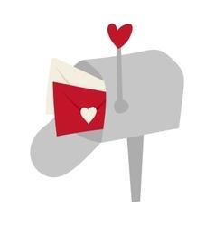 Post office box corner letter communication vector