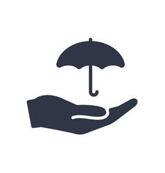 Protection service - minimal icon vector