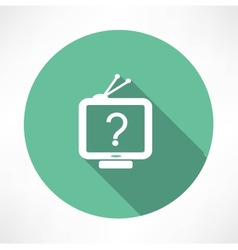 Question mark in tv icon vector
