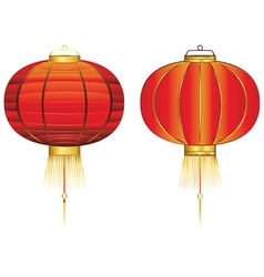 Red Chinese Lantern2 vector