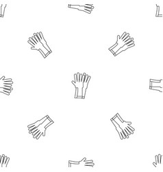 rubber gloves icon outline style vector image