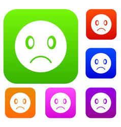 sad emotset collection vector image