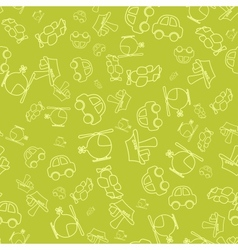 Seamless pattern with cartoon baby transport vector image