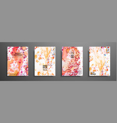set of creative painted cards hand drawn textures vector image