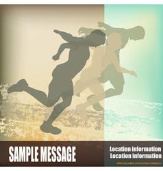 sprinters vector image