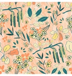 Srping floral pattern vector image vector image