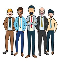 Two men diversity characters vector