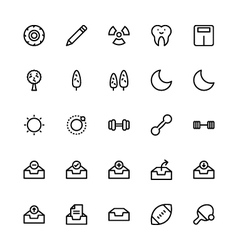 User interface colored line icons 28 vector