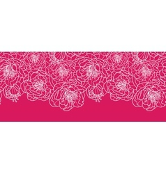 Vibrant red lace flowers horizontal seamless vector image