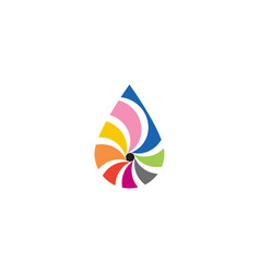 waterdrop color logo vector image