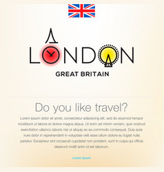 Welcome to london great britain travel desing vector
