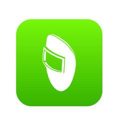 welding mask icon green vector image