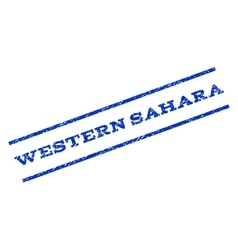Western Sahara Watermark Stamp vector