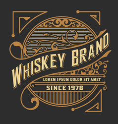 Whiskey card western style vector