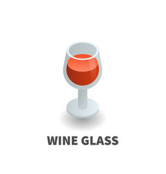 wine glass icon symbol vector image