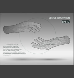 Wire frame hands vector