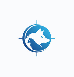 wolves logo template vector image
