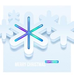 Christmas three-dimensional snowflakes vector image vector image