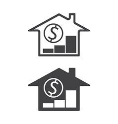 home price up vector image