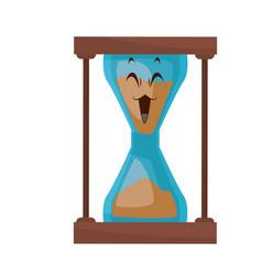 Kawaii sand clock time glass cartoon vector