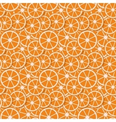 seamless background fresh orange in flat style vector image vector image