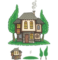 Traditional Bulgarian House vector image vector image