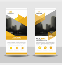 yellow triangle business roll up banner design vector image