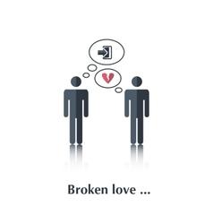 Broken love vector image