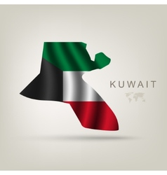 Flag of Kuwait as a country vector image