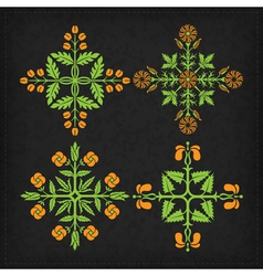 Set of decorative ornament elements vector image vector image