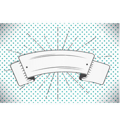 white ribbon in the form of a banner with a your vector image vector image