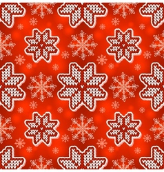 Christmas red embroidery seamless pattern vector image vector image