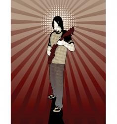 enlightened guitarist vector image vector image
