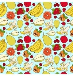 Fruit pattern sketch vector image