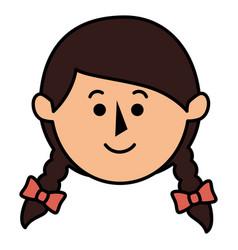 little girl avatar character vector image