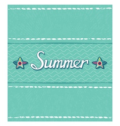 Summer pattern with inscription vector image vector image