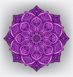 violet floral round ornament vector image