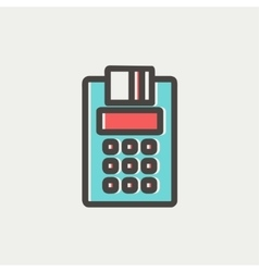 Credit Card Machine thin line icon vector image