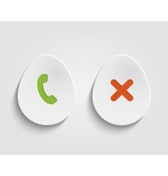 Egg button vector image vector image